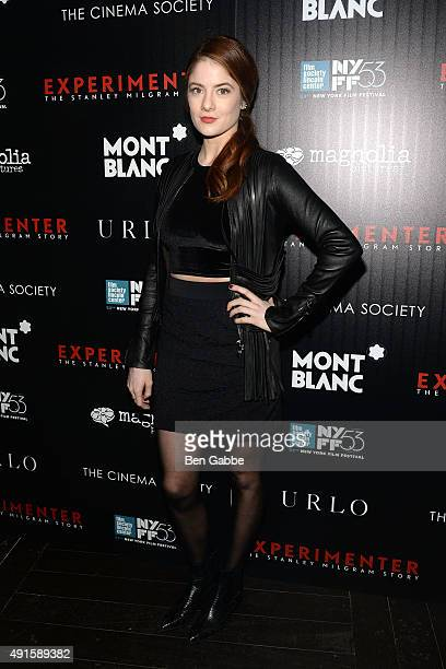 Emily Charmaine attends the party for the 53rd New York Film Festival's premiere of Magnolia Pictures' 'Experimenter' hosted by Montblanc and The...