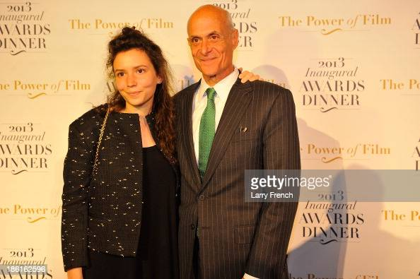 Emily Chertoff left and Michael Chertoff attend the 2013 America Abroad Media Awards Dinner at Andrew W Mellon Auditorium on October 28 2013 in...