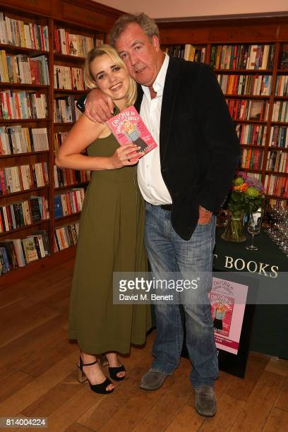 Emily Clarkson and Jeremy Clarkson attend the launch of Emily Clarkson's first book 'Can I Speak to Someone in Charge' at Daunt Books on July 13 2017...