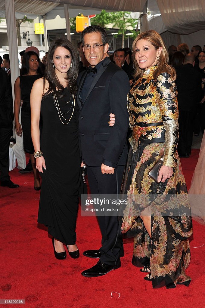 Emily Cole, designer Kenneth Cole and Maria Cuomo Cole attend the 'Alexander McQueen: Savage Beauty' Costume Institute Gala at The Metropolitan Museum of Art on May 2, 2011 in New York City.
