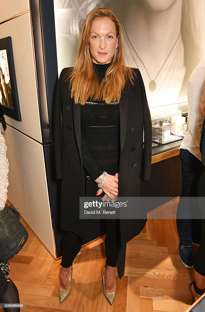 Emily Crompton-Candy attends the APM Monaco flagship store opening on South Molton Street on February 11, 2016 in London, England.