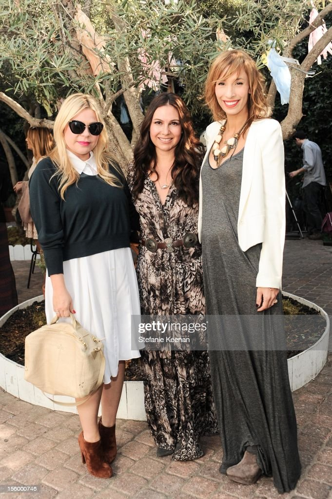 Emily Current, Nicole Chavez and Merritt Elliot attend ShoeMint Celebrates 1 Year Anniversary With Rachel Bilson And Nicole Chavez at Laurel Hardware on November 10, 2012 in West Hollywood, California.