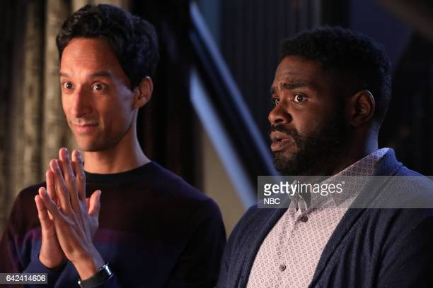 POWERLESS 'Emily Dates A Henchman' Episode 107 Pictured Danny Pudi as Teddy Ron Funches as Ron