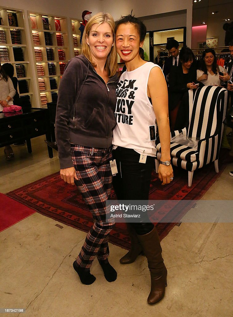 Emily Davis and Dana Casey attend the Vanity Fair & Juicy Couture 'Wild For Gifts' Celebration on November 7, 2013 in New York City.