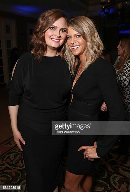 Emily Deschanel and Kaitlin Olson attend the 2017 Winter TCA Tour FOX AllStar Party at Langham Hotel on January 11 2017 in Pasadena California