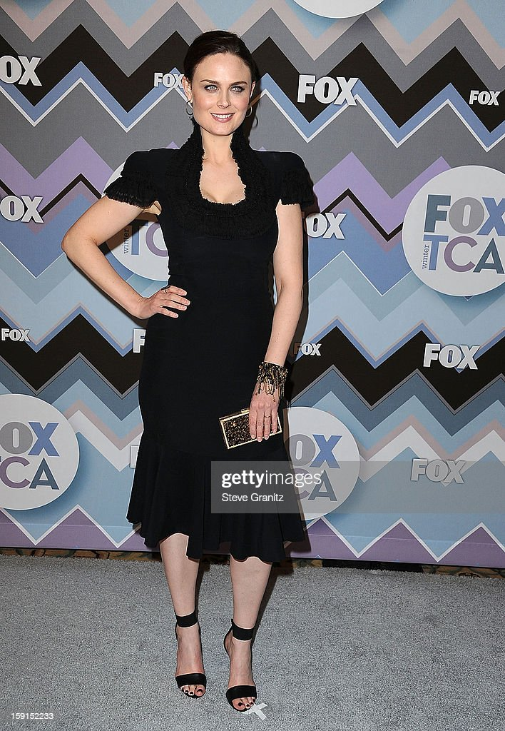Emily Deschanel arrives at the 2013 TCA Winter Press Tour - FOX All-Star Party at The Langham Huntington Hotel and Spa on January 8, 2013 in Pasadena, California.