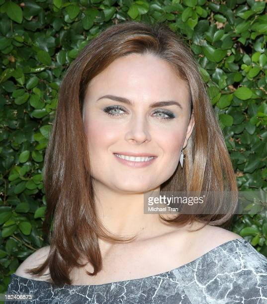 Emily Deschanel arrives at The Rape Foundation's Annual Brunch held at Ron Burkle's Green Acres Estate on September 29 2013 in Beverly Hills...