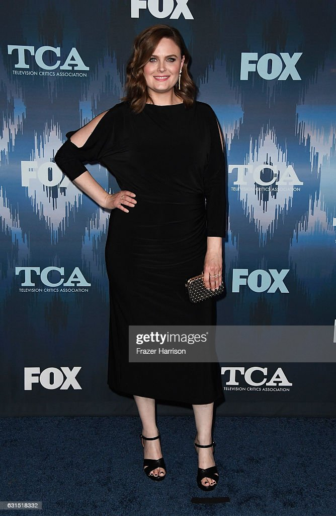 Emily Deschanel attends the FOX All-Star Party during the 2017 Winter TCA Tour at Langham Hotel on January 11, 2017 in Pasadena, California.