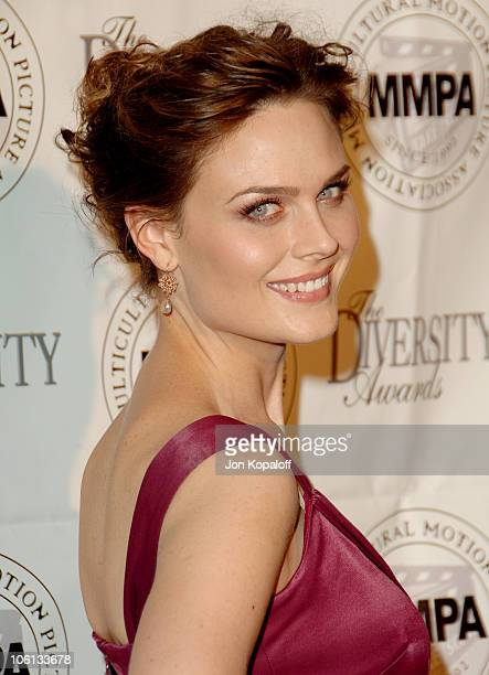 Emily Deschanel during 14th Annual Diversity Awards Arrivals at Century Plaza Hotel in Century City California United States