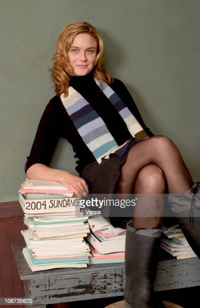 Emily Deschanel during 2004 Sundance Film Festival 'Easy' Portraits at HP Portrait Studio in Park City Utah United States