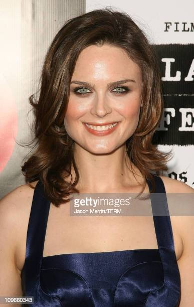 Emily Deschanel during 2007 Spirit Of Independence Award Ceremony Honoring Clint Eastwood Arrivals at Billy Wilder Theatre in Westwood California...
