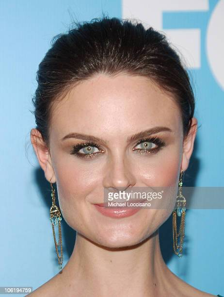 Emily Deschanel during The 2007/2008 Fox Upfronts Arrivals at Wollman Rink Central Park in New York City New York United States