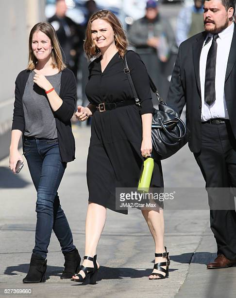 Emily Deschanel is seen on May 2 2016 in Los Angeles
