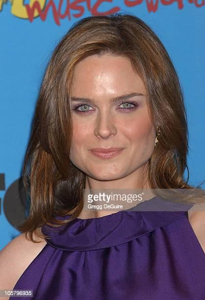 Emily Deschanel presenter during 2005 Billboard Music Awards Press Room at MGM Grand in Las Vegas Nevada United States