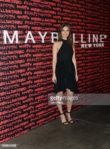 Emily DiDonato attends Maybelline New York celebrates fashion week at Dream Downtown Hotel on February 12 2016 in New York City
