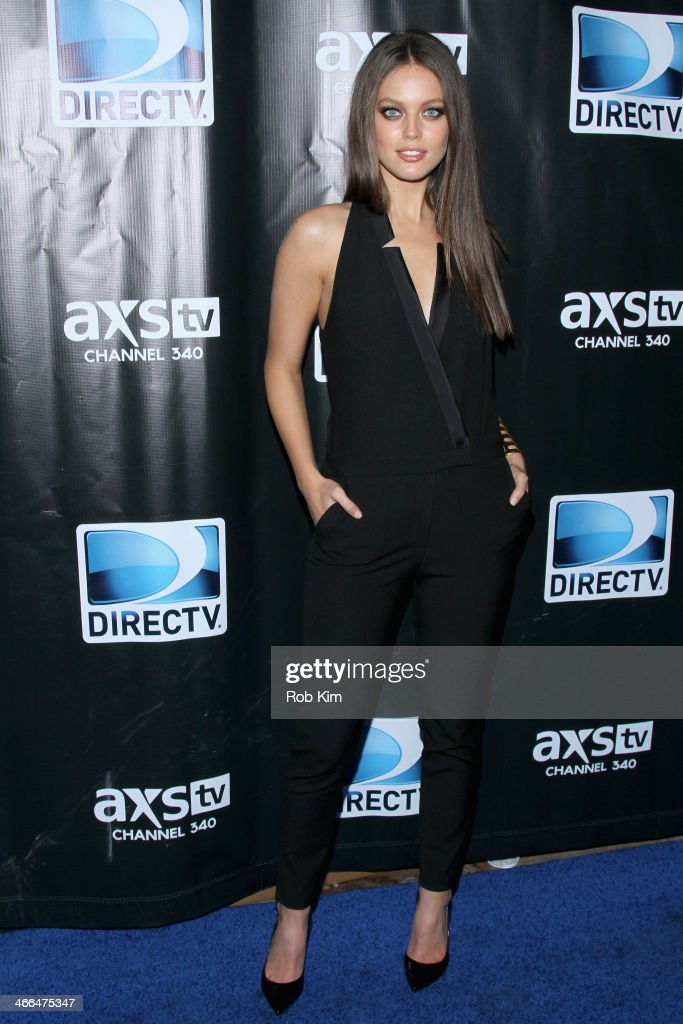 <a gi-track='captionPersonalityLinkClicked' href=/galleries/search?phrase=Emily+DiDonato&family=editorial&specificpeople=6155210 ng-click='$event.stopPropagation()'>Emily DiDonato</a> attends the DirecTV Super Saturday Night at Pier 40 on February 1, 2014 in New York City.