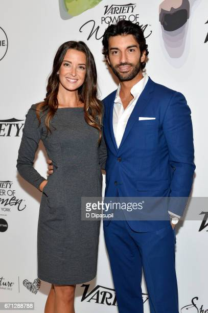Emily Foxler and Justin Baldoni attend Variety's Power of Women New York at Cipriani Midtown on April 21 2017 in New York City