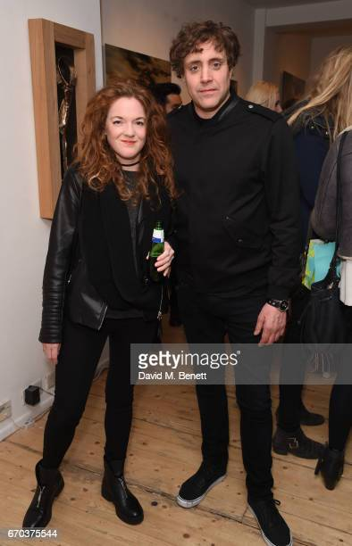 Emily Gardiner and Ian Matthews attend a private view of exhibition 'Morphosis' during the official launch of the West Contemporary gallery on April...