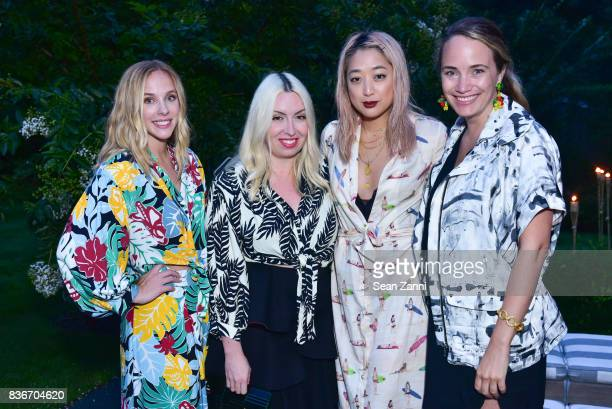 Emily Godard Cara Chen Serena Goh and Grace Atwood attend The Daily Summer x PatBo Night in Brazil Dinner at Private Residence on August 18 2017 in...