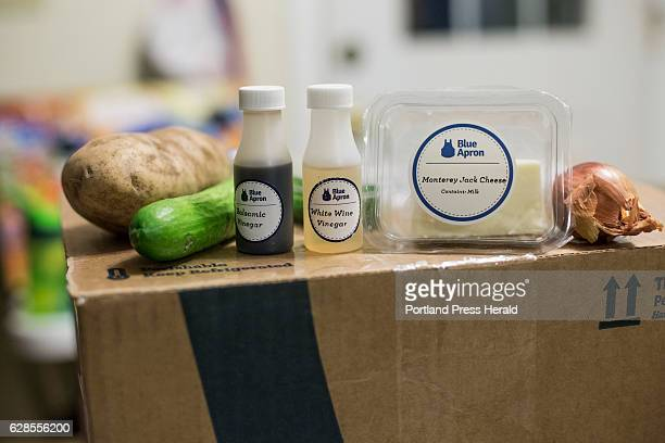 Emily Griffin uses the Blue Apron meal service Some of the ingredients in this week's box
