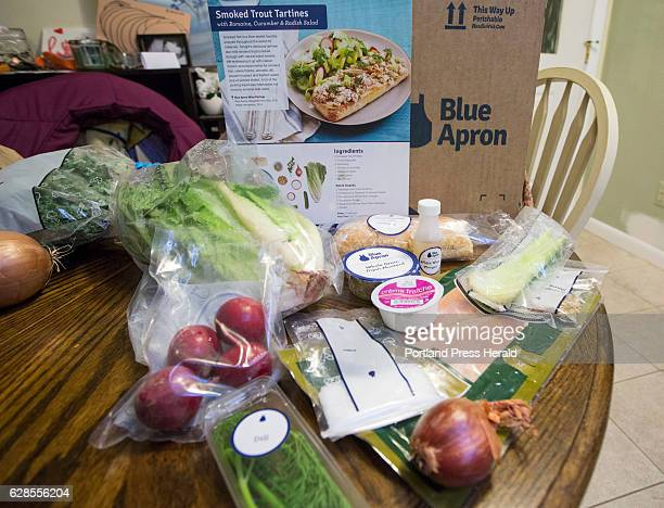 Emily Griffin uses the Blue Apron meal service The ingredients and recipe page for Smoked Trout Tartines
