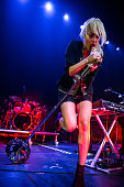 Emily Haines of Metric performs in concert at The Palace of Auburn Hills on November 21 2013 in Auburn Hills Michigan