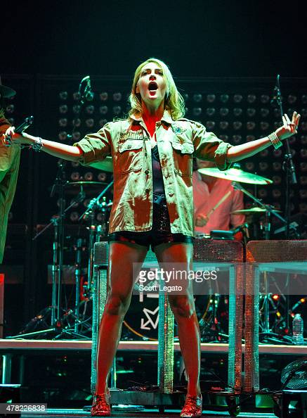 Emily Haines of Metric performs on June 23 2015 in Auburn Hills Michigan