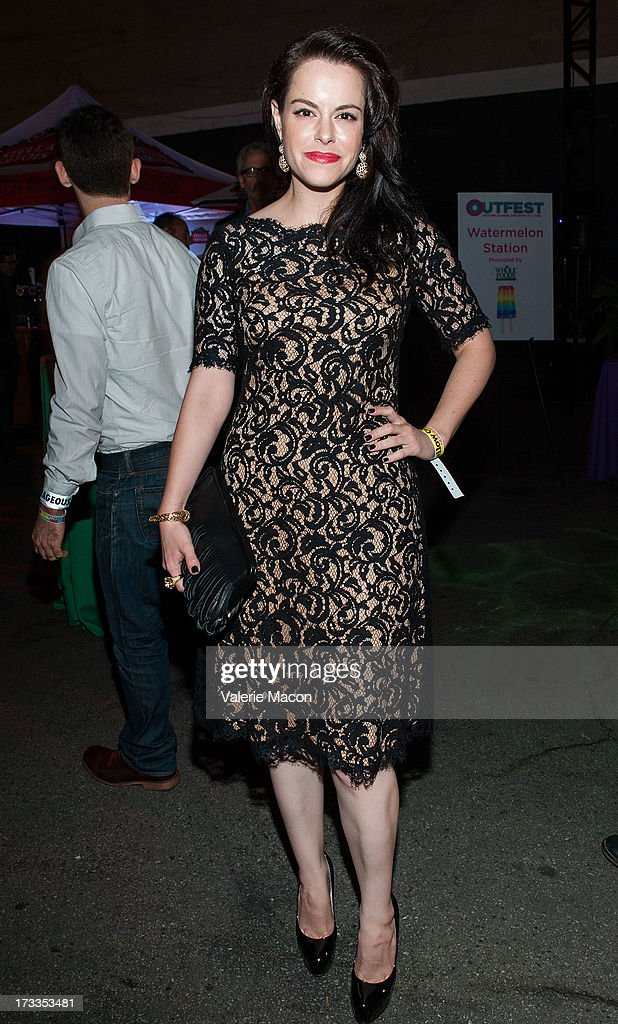 Emily Hampshire attends the 2013 Outfest Opening Night Gala Of 'C.O.G.' After Party at on July 11, 2013 in Los Angeles, California.