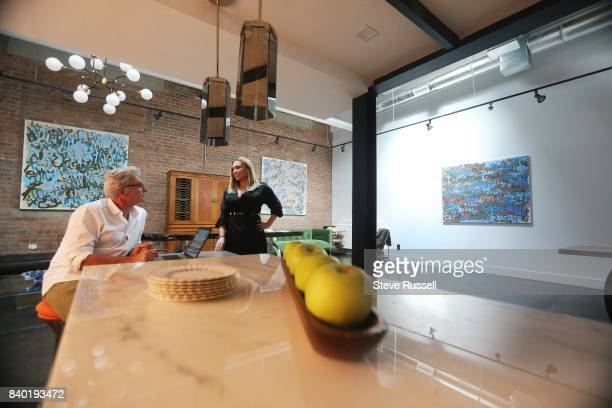 TORONTO ON AUGUST 8 Emily Harding who operates an art gallery out of her loft She and partner Jeff Dinan also host events there that combine gourmet...