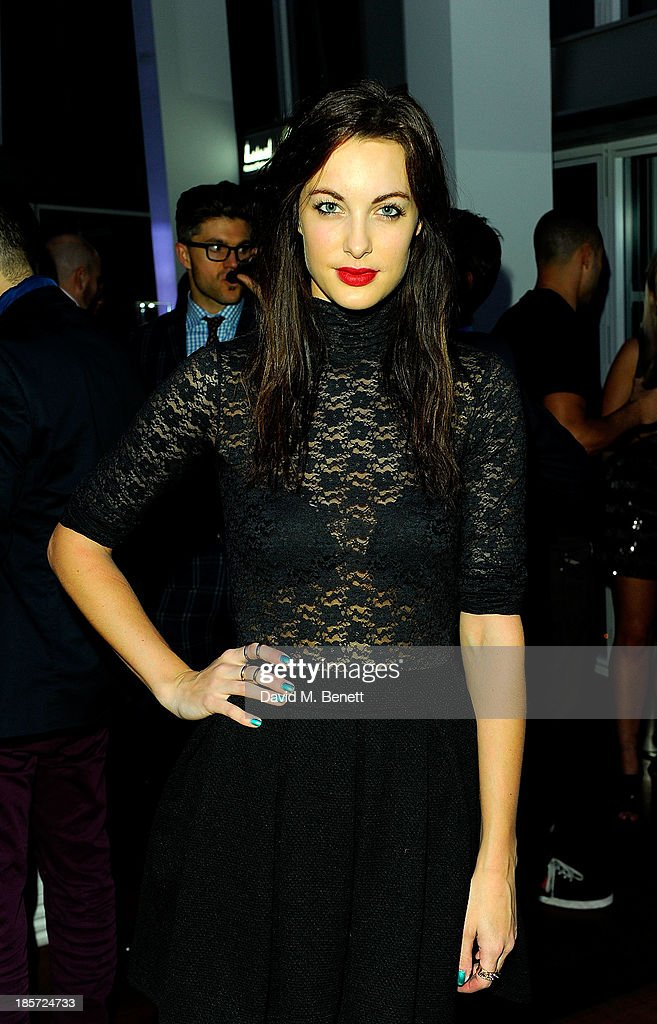 Emily Hartridge at The View from The Shard on October 23, 2013 in London, England.