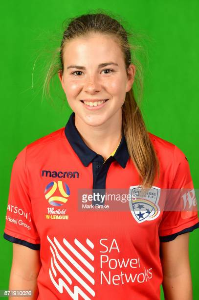 Emily Hodgson 01 poses during the Adelaide United 2017/18 WLeague headshots session at Marden Sports Complex on November 8 2017 in Adelaide Australia