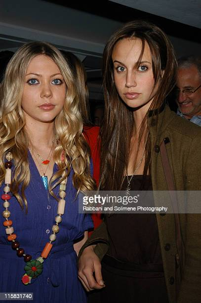 Emily Jerome and Ali Kay during Olympus Fashion Week Fall 2005 Narciso Rodriguez After Party at 49 Grove in New York City New York United States