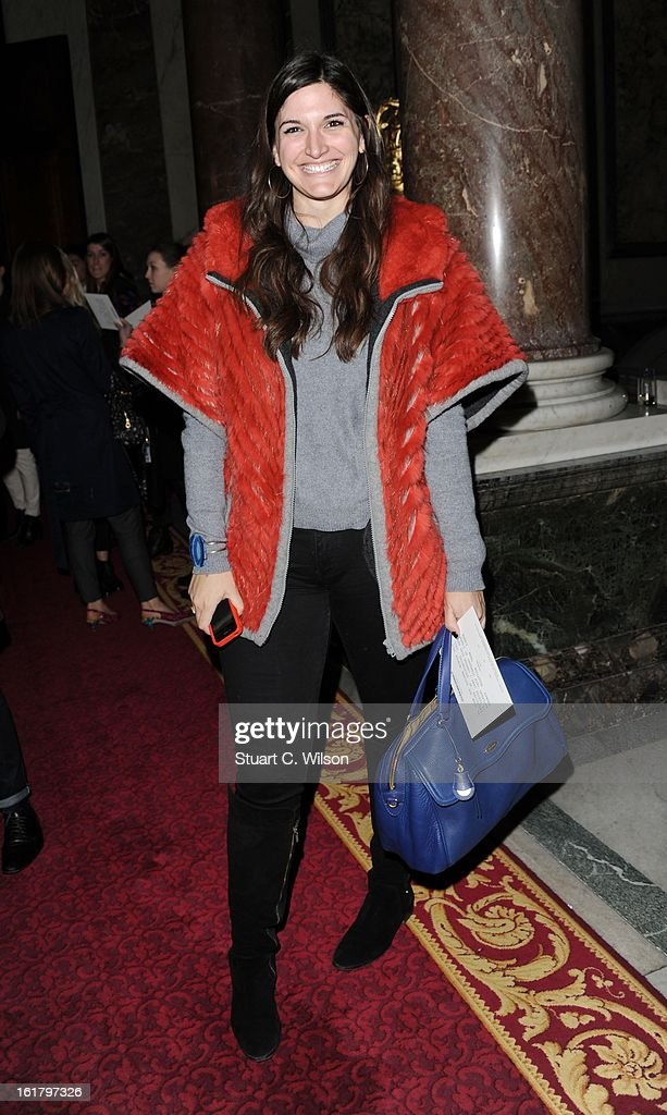 Emily Johnson attends the Julien Macdonald show during London Fashion Week Fall/Winter 2013/14 at Goldsmiths' Hall on February 16, 2013 in London, England.