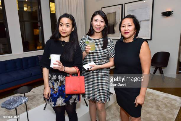 Emily Kao Saerom Moon and Heather Ba attend Tom Faulkner at Angela Brown Ltd on October 18 2017 in New York City