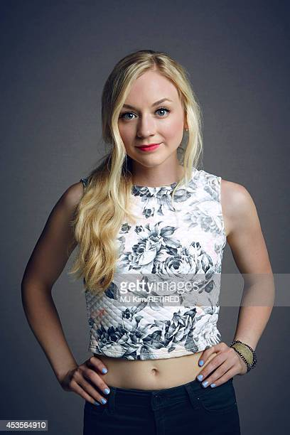 Emily Kinney poses for a portrait at the Getty Images Portrait Studio powered by Samsung Galaxy at ComicCon International 2014 on July 24 2014 in San...