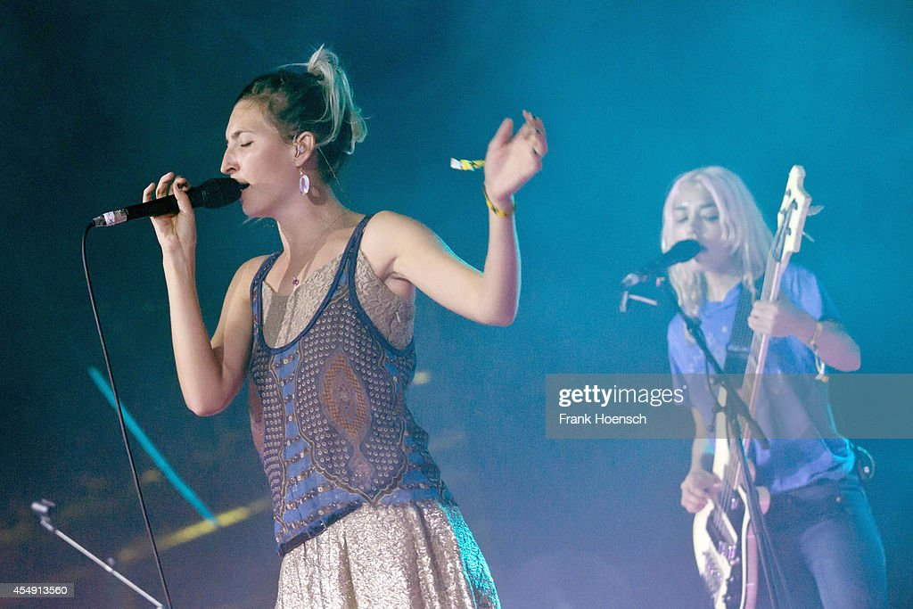 Emily Kokal and Jenny Lee Lindberg of American band Warpaint perform live during Berlin Festival Day 3 at the Arena Treptow on September 7 2014 in...