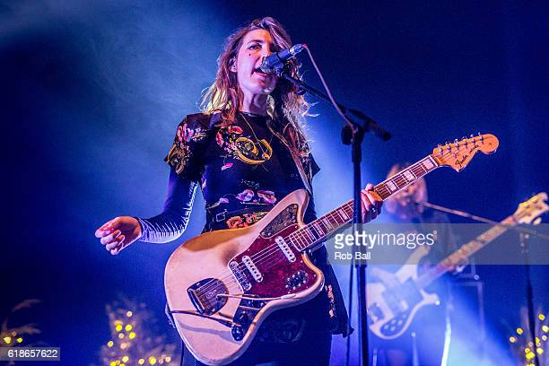 Emily Kokal from Warpaint performs at The Roundhouse on October 27 2016 in London England