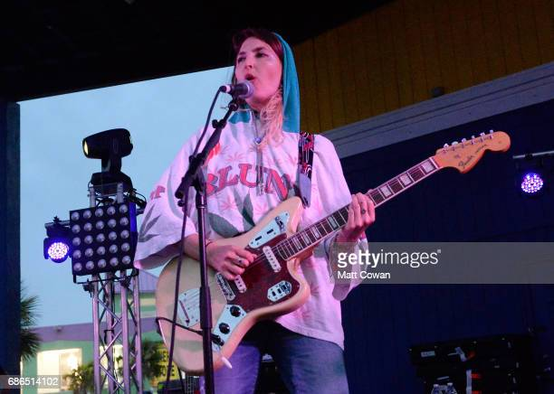 Emily Kokal of Warpaint performs at the Mermaid Stage during 2017 Hangout Music Festival on May 21 2017 in Gulf Shores Alabama