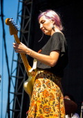 Emily Kokal of Warpaint performs during the St Jerome's Laneway Festival at Meadow Brook Music Festival on September 14 2013 in Rochester Michigan