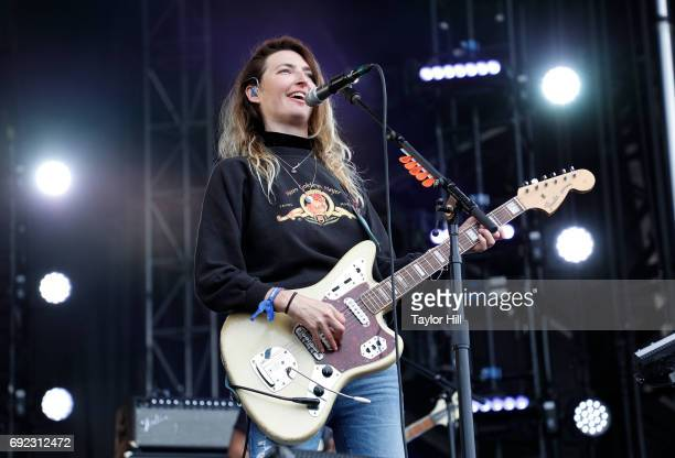 Emily Kokal of Warpaint performs live onstage during 2017 Governors Ball Music Festival Day 3 at Randall's Island on June 4 2017 in New York City