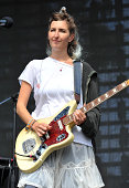 Emily Kokal of Warpaint performs on Day 1 of the 7th Annual Outside Lands Festival at Golden Gate Park on August 8 2014 in San Francisco California