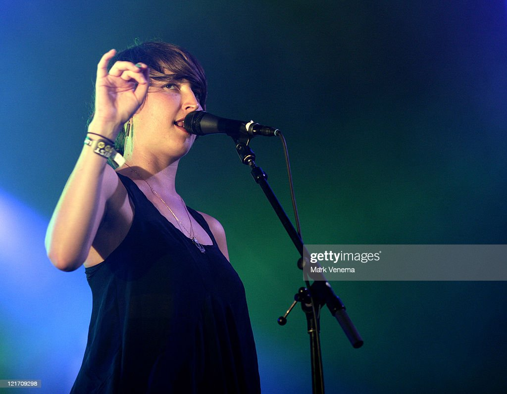 Emily Kokal of Warpaint performs on day three of Lowlands Festival on August 21, 2011 in Biddinghuizen, Netherlands.