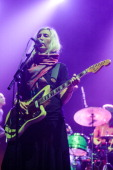 Emily Kokal of Warpaint performs on stage at Brixton Academy on October 30 2013 in London England