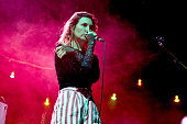 Emily Kokal of Warpaint performs on stage at Eventim Apollo on March 26 2015 in London United Kingdom
