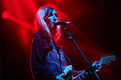 Emily Kokal of Warpaint performs on stage at Leeds Festival at Bramham Park on August 23 2014 in Leeds United Kingdom