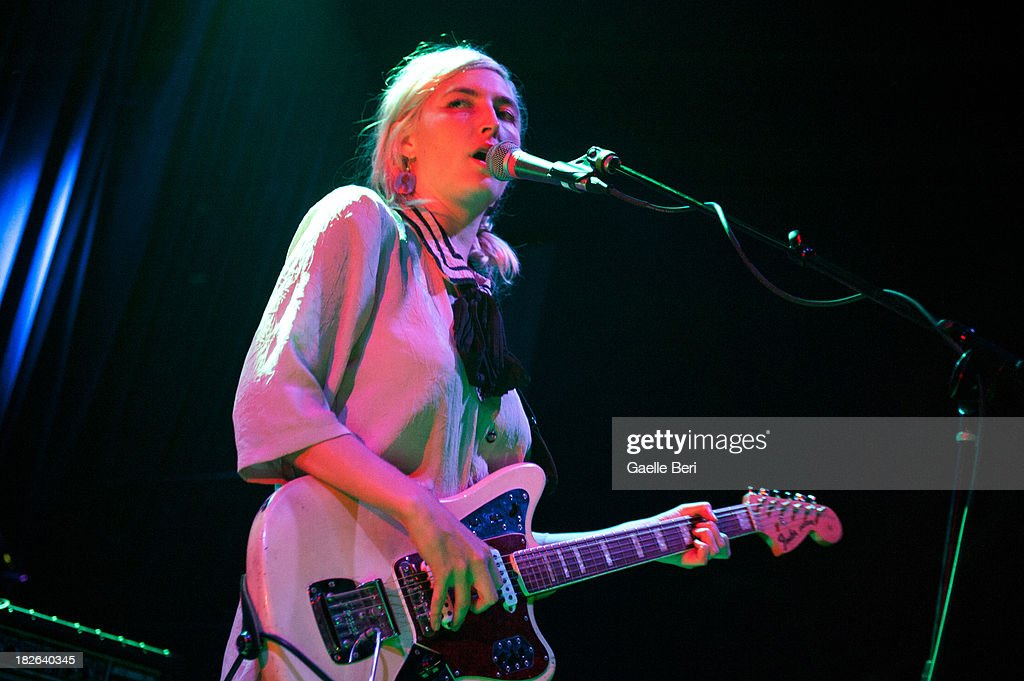 <a gi-track='captionPersonalityLinkClicked' href=/galleries/search?phrase=Emily+Kokal&family=editorial&specificpeople=7132995 ng-click='$event.stopPropagation()'>Emily Kokal</a> of Warpaint performs on stage at Music Hall of Williamsburg on October 1, 2013 in New York, New York.