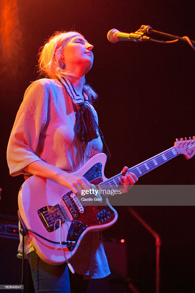 Emily Kokal of Warpaint performs on stage at Music Hall of Williamsburg on October 1, 2013 in New York, New York.