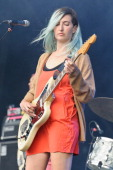 Emily Kokal of Warpaint performs on stage at Parklife Weekender at Heaton Park on June 8 2014 in Manchester United Kingdom