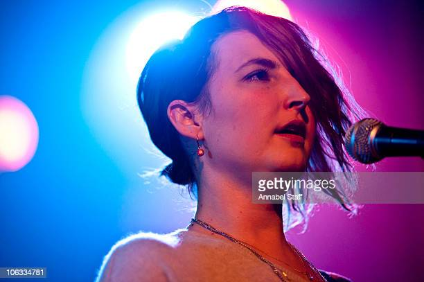 Emily Kokal of Warpaint performs on stage at Scala on October 28 2010 in London England