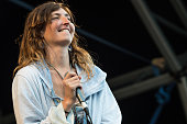 Emily Kokal of Warpaint performs on stage during day one of Barclaycard Presents British Summer Time Hyde Park on July 1 2016 in London United Kingdom